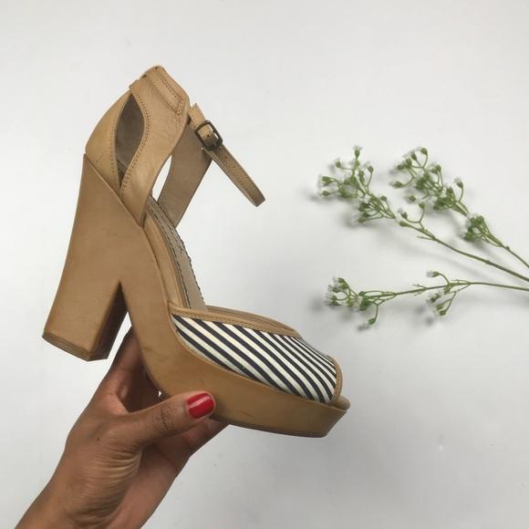 bdd48e444bb2 Anthropologie Shoes - Splendid Striped Platform Ankle Strap Heel Sandals